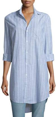 Frank & Eileen Mary Striped Chambray Shirtdress, Multi Stripe $238 thestylecure.com