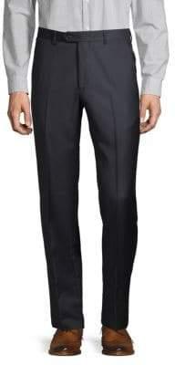 Badgley Mischka Flat-Front Wool Trousers