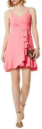 Karen Millen Ruffled Faux-Wrap Dress