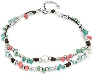 """Uno de 50 Multi Bead Necklace, 18"""""""