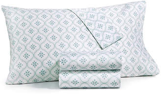 Martha Stewart Collection 4-Pc. Printed California King Sheet Set, 400 Thread Count 100% Cotton Percale, Created for Macy's Bedding