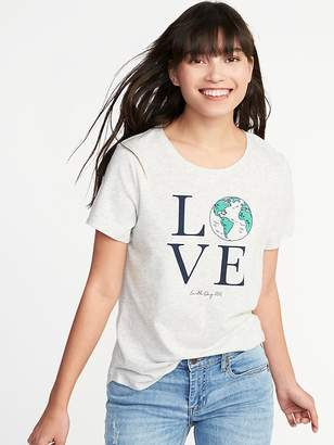 Old Navy EveryWear Earth-Day-Graphic Tee for Women