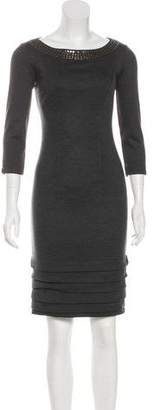 Blumarine Wool Embellished Dress