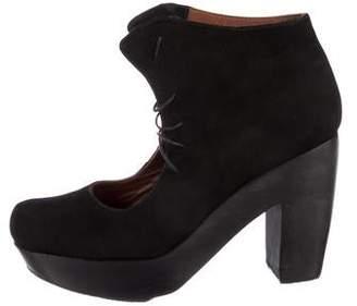 Rachel Comey Suede Platform Ankle Boots