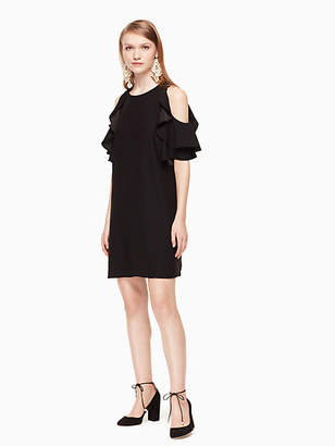 Kate Spade Cold shoulder crepe dress