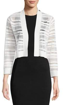 Calvin Klein Ribbed Stripe Long-Sleeve Cardigan