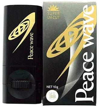 PEACE WAVE 日焼け止め UVフェイススティック SPF38 PA++ ブラック 10g 580274