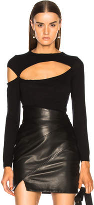 Michelle Mason Asymmetrical Cut Out Sweater