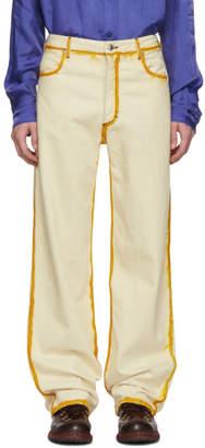 Eckhaus Latta Off-White Seam Painting Jeans