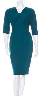 3.1 Phillip Lim Wool Three-Quarter Sleeve Dress