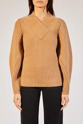 KHAITE The Carlito Sweater in Camel
