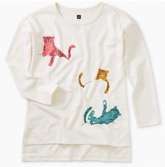 Tea Collection Cloud Tigers Graphic Tunic