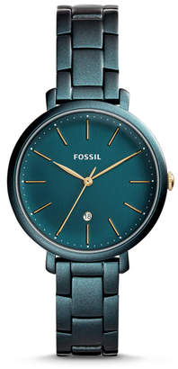 Fossil Jacqueline Three-Hand Date Teal Green Stainless Steel Watch
