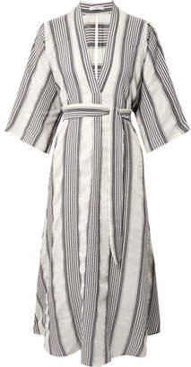 Tome Striped Crinkled-voile Midi Dress - Ivory