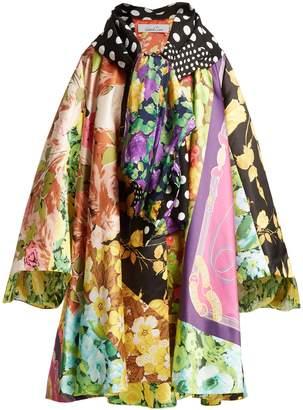 DAY Birger et Mikkelsen RICHARD QUINN Floral and vintage scarf-print satin coat