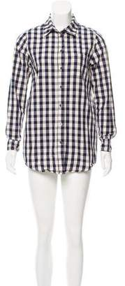 Solid & Striped Poppy Delevingne x Gingham Button-Up Top