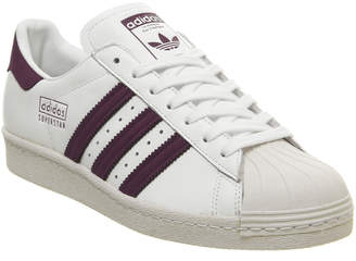 Superstar 80s Trainers White Maroon Crystal White