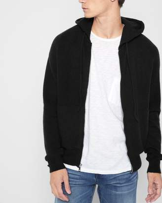7 For All Mankind Zipper Hoodie in Black