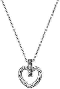 Hot Diamonds Women 925 Sterling Silver Diamond Pendant Necklace of Length 45cm DP674
