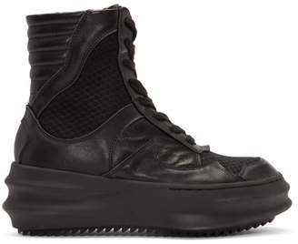 D.gnak By Kang.d Black Curved High-Top Sneakers