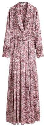 MANGO Satin floral dress