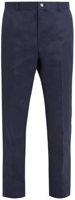 Thom Browne Straight-leg cotton-gabardine trousers