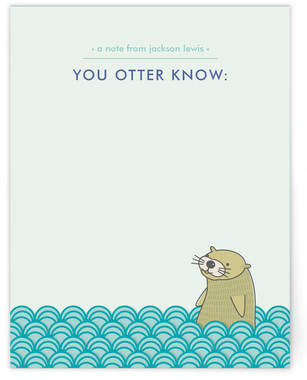 You Otter Know Children's Personalized Stationery