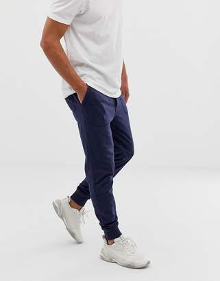 J.Crew Mercantile slim fit cuffed joggers in navy