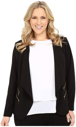 Calvin Klein Plus Plus Size 2 Zipper Jacket w/ Fly Away Women's Jacket