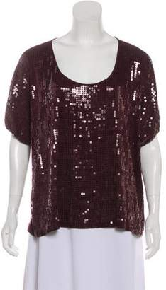 Robert Rodriguez Embellished Short Sleeve Top
