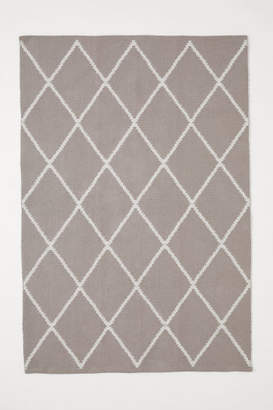 H&M Jacquard-weave Cotton Rug - Brown