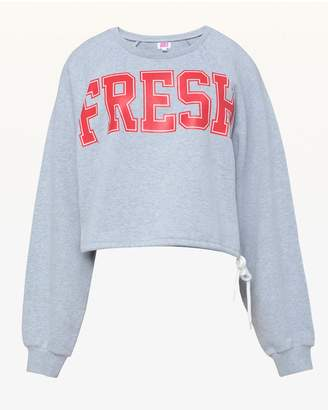 Juicy Couture Jxjc Fresh Cutoff Logo Terry Pullover