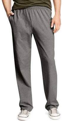 Hanes Big Men's X-Temp Jersey Open Leg Pants with Pockets
