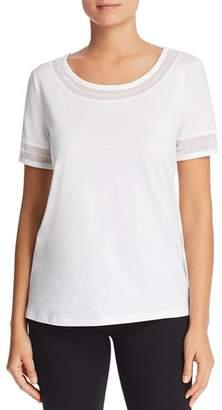 Donna Karan Embellished Short Sleeve Top