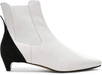 Givenchy GV3 Chelsea Ankle Boots in White & Black | FWRD
