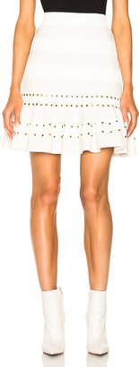 Alexander Mcqueen Eyelet Detail Flared Mini Skirt