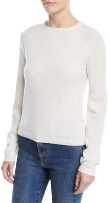 Co Crewneck Raglan-Sleeve Cashmere Knit Sweater