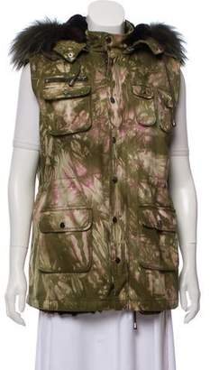Jocelyn Fox Fur Army Vest