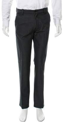 John Varvatos Flat Front Wool-Blend Pants