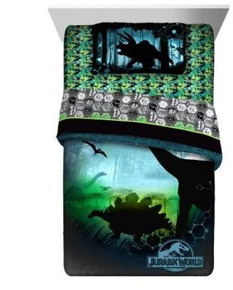 "Universal Jurassic World Jurassic World ""Perfect World"" Reversible Twin Comforter"