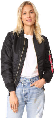 Alpha Industries MA-1 Reversible Bomber Jacket $150 thestylecure.com