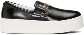 Kenzo Black Logo Sneakers $345 thestylecure.com