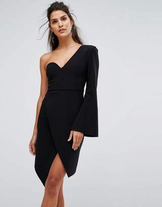 Finders Keepers Finders Chances Structured One Sleeve Dress