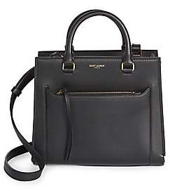 Saint Laurent Women's Baby East Side Cabas Leather Top Handle Bag