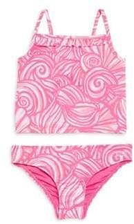 Vineyard Vines Toddler's, Little Girl's& Girl's Two-Piece Nautilus Shell Printed Bikini