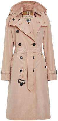 Burberry Detachable Hood Taffeta Trench Coat