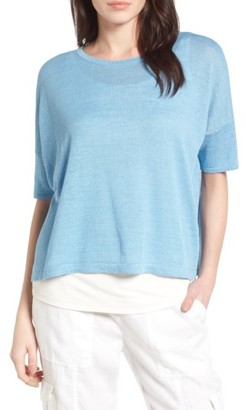 Women's Eileen Fisher Organic Linen Top $138 thestylecure.com