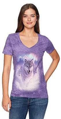 The Mountain Women's Tri-Blend V-Neck Northern Lights T-Shirt