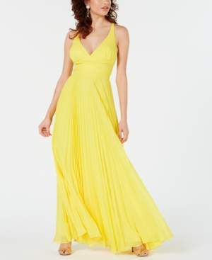Laundry by Shelli Segal Pleated Maxi Gown