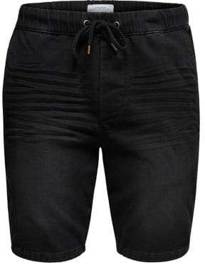 ONLY & SONS Denim Drawstring Sweat Shorts